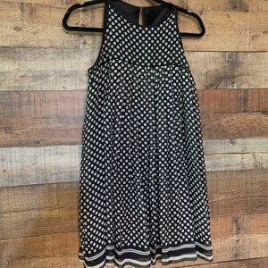 Milly black & white polka dot dress, size 0